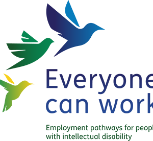 Everyone can work logo employment pathways for people with intellectual disability