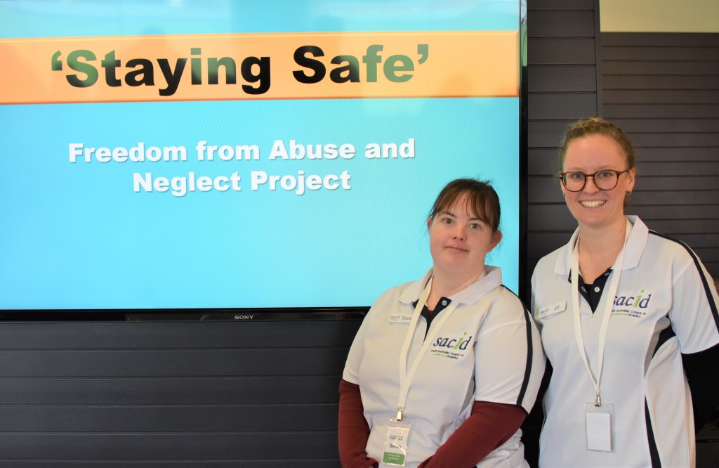 Sarah and Jill presenters of Staying Safe workshop
